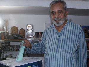 UR Ananthamurthy casting his vote