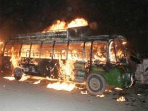 Bus burning