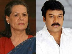 Sonia Gandhi and Chiranjeevi