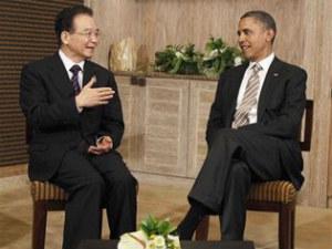 US President Barack Obama and Chinese Premier Wen Jiabao
