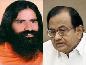 Baba Ramdev and P Chidambaram