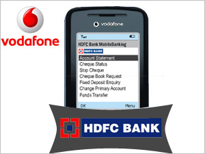 Mobile banking with HDFC Bank and Vodafone