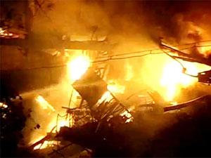 Fire in Assam