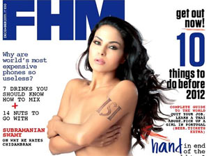 Veena Malik pose topless for a Magazine cover