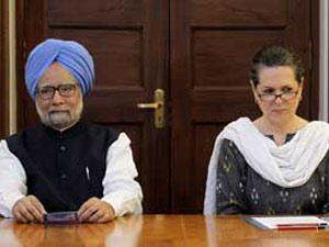 Prime Minister Manmohan Singh and party chief Sonia Gandhi
