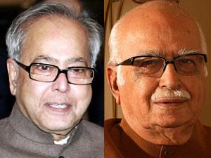 Pranab Mukherjee and LK Advani
