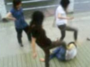 Girls slap Boy