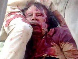 Gaddafi Bloodied