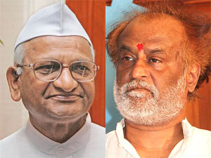 Anna Hazare and Rajinikanth