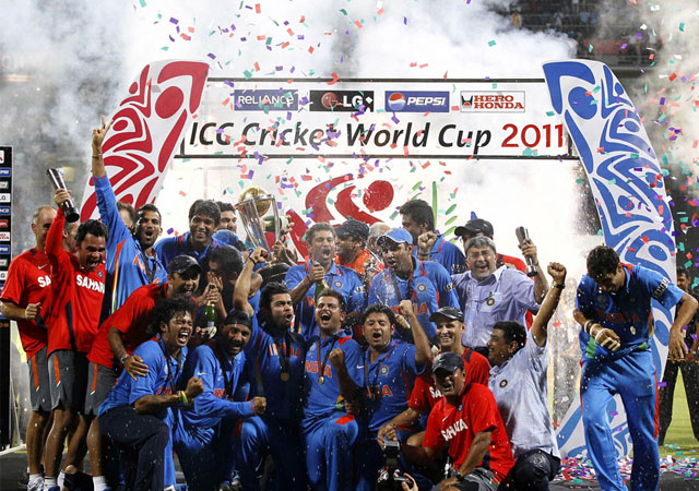 Indian Team ICC World Cup Trophy