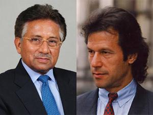 Imran Khan and Pervez Musharraf