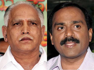 BS Yeddyurappa and Janardhana Reddy