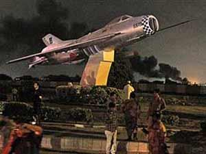 Karachi naval airbase attacked