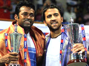 Leander Paes and Janko Tipsarevic