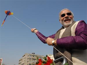 Narendra Modi in international Kite Festival
