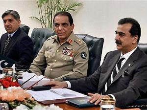 Prime Minister Yousuf Raza Gilani and Pakistan Army chief Gen Ashfaq Parvez Kayani