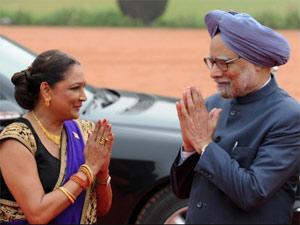 Kamla Persad-Bissessar-Manmohan Singh