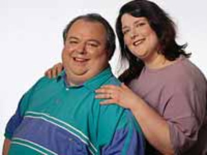 Obese couple
