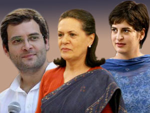 Rahul, Sonia and Priyanka Gandhi