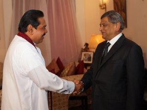 External Affairs Minister S M Krishna Sri Lankan President Mahinda Rajapaksa