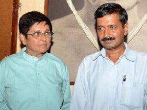Arvind Kejriwal and Kiran Bedi