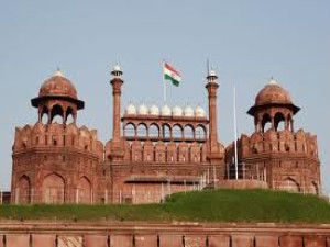Indian flag hoisted atop of Red fort