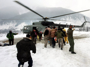 The Indian Air Force evacuating inhabitants of snow-hit Kishtwar district