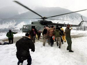The Indian Air Force evacuating inhabitants of snow-hit Kishtwar district