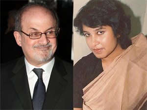Salman Rushdie and Taslima Nasreen