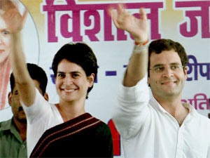 Congress leader Rahul Gandhi and his sister Priyanka Gandhi