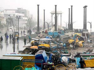 Thane cyclone ripped off Pondicherry