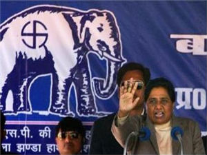 Mayawati in a rally
