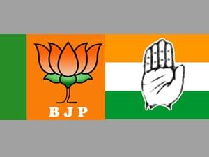 BJP and Congress symbols