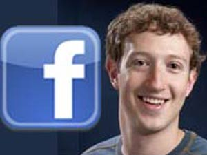 Merk Zuckerberg and Facebook logo