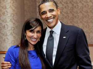 Shefali Razdan Duggal poses with Barack Obama