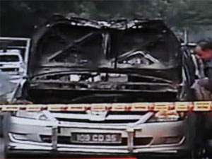 The bomb-attacked car
