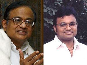 P Chidambaram and his son Karthi Chidambaram