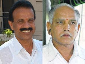 Sadananda Gowda and BS Yeddyurappa