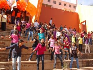 Flash mob performance in inaugural function of Acharya Habba 2012