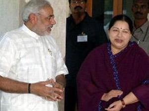 J Jayalalithaa and Narendra Modi