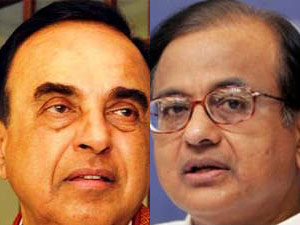 Subramanian Swamy and P Chidambaram