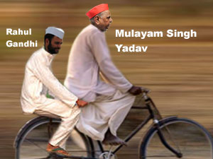 Rahul Gandhi and Mulayam Singh Yadav