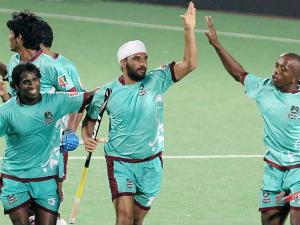 Pune Strykers celebrate