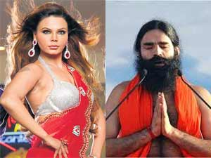 Image result for rakhi and baba ramdev
