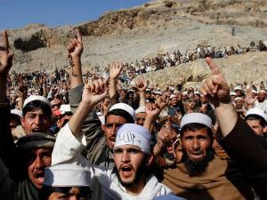 Anti-American protest in Afghanistan