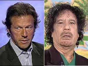 Imran Khan and Muammar Gaddafi