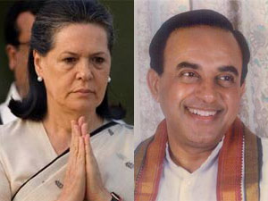 Sonia Gandhi and Subramanian Swamy