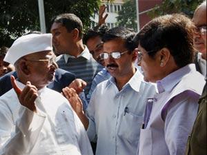 Anna Hazare and team