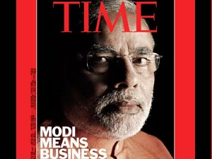 Modi on Times cover