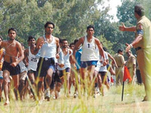 Physical training during police recruitment